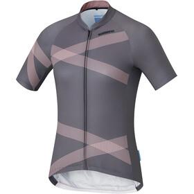 Shimano Team Kortærmet cykeltrøje Damer grå/pink